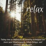 Why is it important to relax?