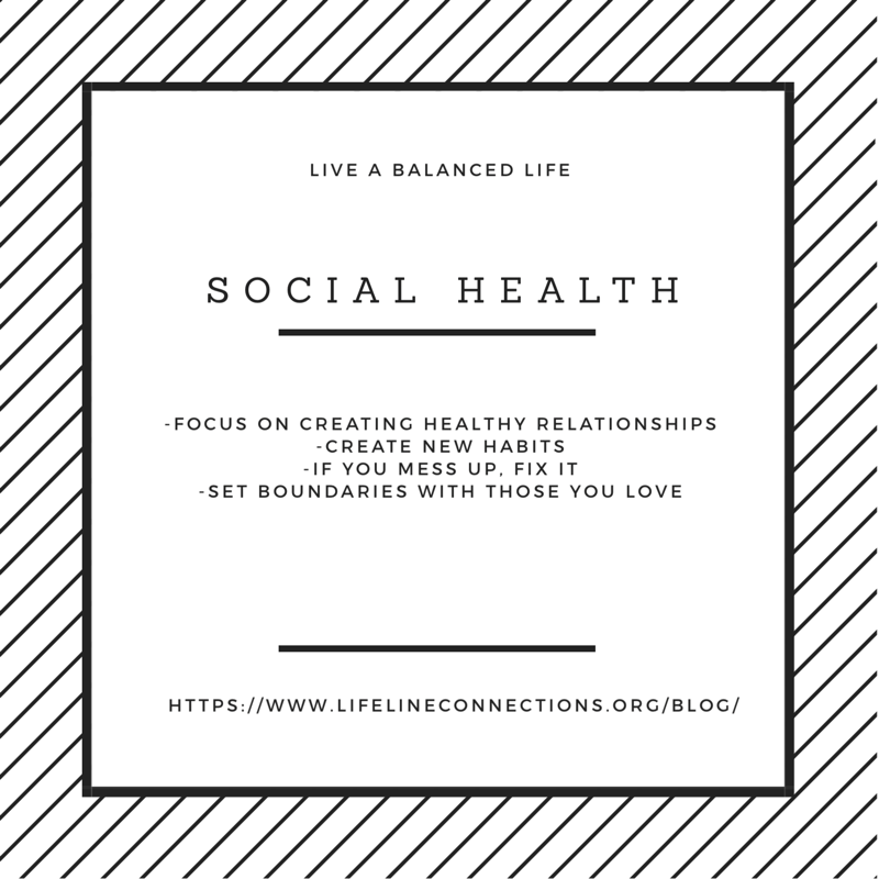 how to live a healthy social life